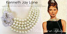 Kenneth Jay Lane Pearl Crystal Audrey Hepburn Breakfast Necklace Wedding GATSBY  | eBay
