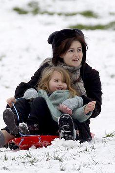Helena Bonham Carter Photos - Tim Burton and Helena Bonham Carter in the Snow - Zimbio