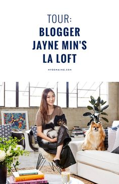 STOP IT RIGHT NOW blogger Jayne Min's streamlined LA loft is a must-see