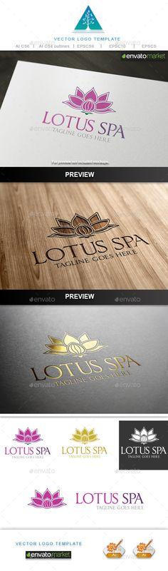 Lotus Spa Logo EPS Template • Download ➝ https://graphicriver.net/item/lotus-spa-logo/9868042?ref=pxcr