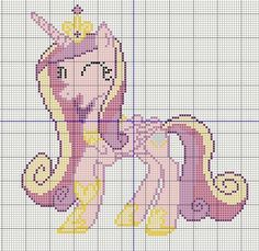 Buzy Bobbins: Princess Candence happy - My Little Pony Cross stitch design