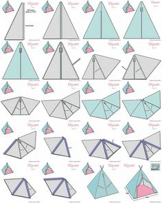 Fabric Wigwam Tutorial by toriejayne, via Flickr