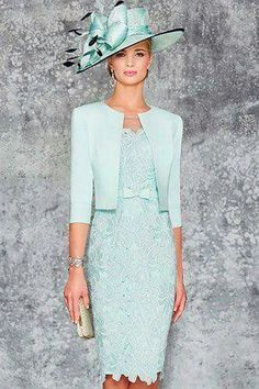 Ronald Joyce 991102 02 stunning fitted dress matching jacket sits edge to edge with a rounded collar and length sleeves in Aqua and Pale Blue. Mother Of Bride Outfits, Mother Of Groom Dresses, Mothers Dresses, Mother Of The Bride Suits, Mob Dresses, Bridesmaid Dresses, Formal Dresses, Bride Dresses, Elegant Dresses