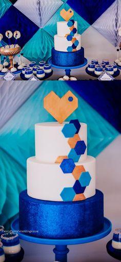 Geometric Dessert Table Inspiration by Fancy Pants Weddings