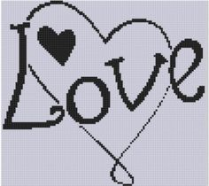 Love Heart 2 Cross Stitch Pattern