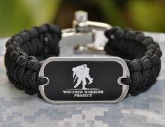 Paracord Survival Bracelet By Straps Wounded Warrior Project Edition Medium 101 Tees