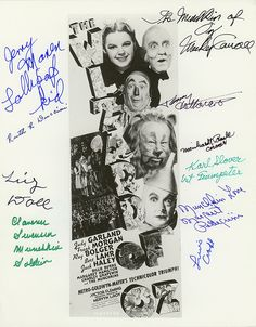 THE WIZARD OF OZ Autographed 8x10 Insert Poster Photo Signed by 10 MUNCHKINS