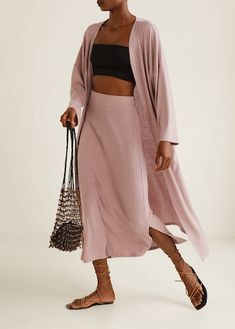 Discover the latest trends in Mango fashion, footwear and accessories. Shop the best outfits for this season at our online store. Mango Fashion, Egyptian Cotton, Knitting Designs, Cable Knit, Fashion Online, Midi Skirt, Duster Coat, Latest Trends, Cool Outfits