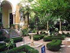 Jardines del Museo Sorolla. Madrid------ brick patio off back porch