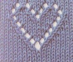 SANDRA PONTOS DE CROCHÊ E TRICÔ...........: Coração de trico