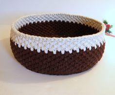 Big Storage Basket Handmade Crochet Basket by CottageCoveCrochet