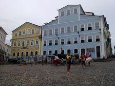 Salvador - Largo do Pelourinho.   A Fundação Casa Jorge Amado e o Museu da Cidade.