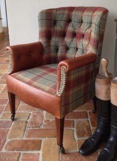 Seymour Interiors offer a comprehensive re-upholstery and restoration service. Whether you need traditional leather upholstery repairs or modern sofa re Tuscan Furniture, Concrete Furniture, Scottish Decor, Wing Chair, Leather Sofa, Leather Chairs, Chair Upholstery, Furniture Styles, Furniture Inspiration