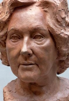 by Tristan MacDougall titled: 'Portrait of Angela (Terra Cotta Portrait Bust statue)'. Sculpture Head, Ceramic Sculptures, Slab Pottery, Thrown Pottery, Ceramic Pottery, Italian Statues, Statue Tattoo, Aesthetic Women, Angel Statues