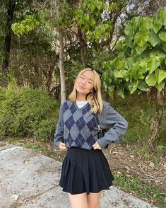 Adrette Outfits, Indie Outfits, Cute Casual Outfits, Retro Outfits, Skirt Outfits, Fall Outfits, Vintage Outfits, School Uniform Outfits, Teen Fashion Outfits