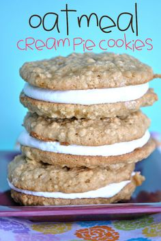 Oatmeal Cream Pie Cookies with marshmallow creme filling . . . and several more tasty recipes, including apple cider cupcakes!