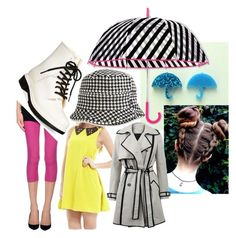 """""""Melody rainy day"""" by abbitsachan ❤ liked on Polyvore featuring AX Paris, Under Armour, Circus by Sam Edelman, Kate Spade, Isotoner and Lanvin"""