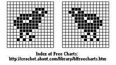 FILET CROCHET CHICK PATTERN | From Crochet at About.com: Chart for Baby Chick (Side View) for Filet ...