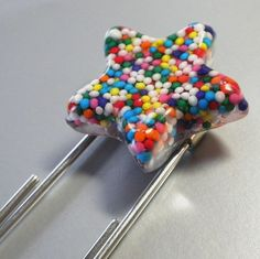 Resin Bookmark  Rainbow Sprinkle Star Bookmark by HighStrungBead, $10.00