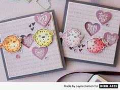 Heart-Shaped Sentiments for Valentine Cards by Jayne Nelson for Hero Arts