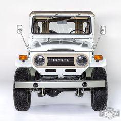 It's finally here! 1974 Toyota LandCruiser FJ43 White #fjrestoration #fj43 #fjco1974orange #4x4