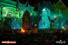 """Happy Halloween all! Here's what I've been up to the past month. I hope to retro-post the """"how-to"""" details on some of the props next week. Halloween Graveyard, Halloween Tombstones, Halloween News, 31 Days Of Halloween, Halloween Images, Halloween 2016, Outdoor Halloween, Holidays Halloween, Happy Halloween"""