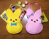 In The Hoop Easter Bunny Treat Bag Designs for Embroidery Machines