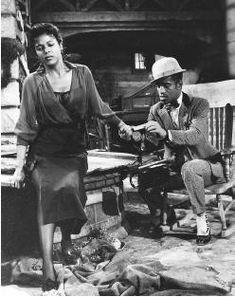 Dorothy Dandridge with Sammy Davis Jr. in Porgy and Bess