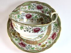 Antique Ovington High Handled Bone China Teacup, Wide Mouthed Tea Cup – The Vintage Teacup