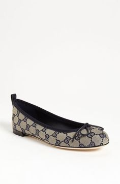 These are so stinking cute! Gucci 'Ali' Ballet Flat available at #Nordstrom