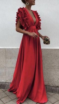 Elegant maxi dress - Unique V Neck Backless Chiffon Evening Prom Dresses, Cheap Custom Sweet 16 Dresses, 18497 – Elegant maxi dress Sweet 16 Dresses, Pretty Dresses, Beautiful Dresses, Cheap Bridesmaid Dresses, Cheap Dresses, Dresses Dresses, Long Dresses, Dresses Online, Backless Maxi Dresses