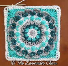 Chrysanthemum Mandala Square - Free Crochet Pattern Mandala Blanket CAL 2016- The Lavender Chair (14)