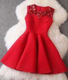 #509 Beading Christmas Dress | Dresses Up