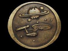 NB21166 VINTAGE 1970s **STARSHIP ENTERPRISE NCC1701** STAR TREK BELT BUCKLE #IndianaMetalCraft #Classic