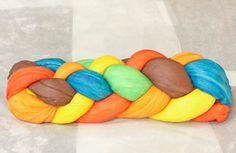 Six Strand Challah Braid Tutorial - love the different color strands!