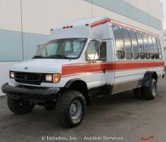 Ford E350 Econoline Off Road 4x4 21 Passenger Shuttle Van Bus Diesel V8 7 3L