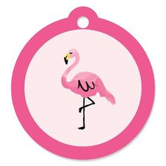 Flamingo - Party Like a Pineapple - Baby Shower or Birthday Party Favor Gift Tags (Set of 20) *** You can find more details by visiting the image link.