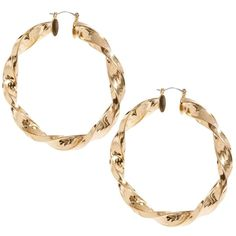 ASOS Large Twisted Hoop Earring ($15) ❤ liked on Polyvore featuring jewelry, earrings, accessories, gold, twisted hoop earrings, chunky earrings, asos jewelry, twist earrings and twist jewelry