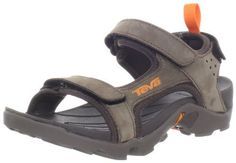 "Teva Tanza Leather C Sandal (Toddler/Little Kid) Teva. $54.95. Heel measures approximately 1.5"". Made in China. Durabrasion Rubber outsole for durable traction. Rubber sole. 73% Leather/27% Textile"