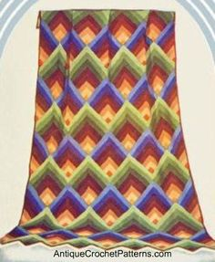 Pyramid Afghan: FREE vintage crochet pattern