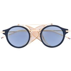 Thom Browne round sunglasses (141425 DZD) ❤ liked on Polyvore featuring accessories, eyewear, sunglasses, grey, metallic sunglasses, gray sunglasses, thom browne, round acetate sunglasses and thom browne glasses
