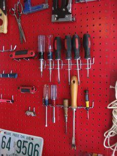 Garage tool organization.