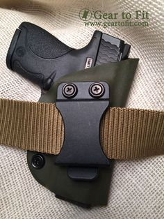 Inside the waistband holster.  Complete with adjustable retention screw.  Get your gear at   www.geartofit.com Inside The Waistband Holster, Conceal Carry, Holsters, Gears, Gear Train, Concealed Carry