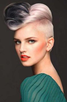 Check Out 20 Mohawk Hairstyles for Woman. The Mohawks are cool, current and in vogue. They're suitable for ladies with short, medium and long hair, and they arrive in an assortment of distinctive styles. Mohawk Hairstyles For Women, Creative Hairstyles, Cool Hairstyles, Hairstyle Ideas, Hairstyles 2016, Bandana Hairstyles, Formal Hairstyles, African Hairstyles, Weave Hairstyles