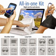 Personalized LCD Dashboards: Personalized LCD (6 Pack) Microfiber Cleaning Clot...