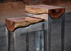 Hilla Shamia casts tree trunks in aluminium to create dramatic effect