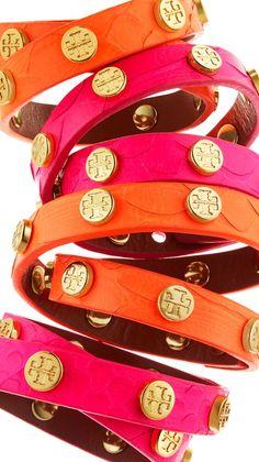 Tory Burch pink & orange bracelets