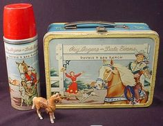 1953 Roy Rogers & Dale Evans Thermos brand lunch box