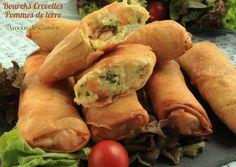 boureks aux crevettes et pommes de terre Bonjour tout le monde,  la recettes de boureks a...