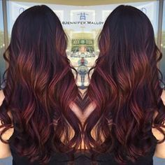 dark red balayage - Google Search